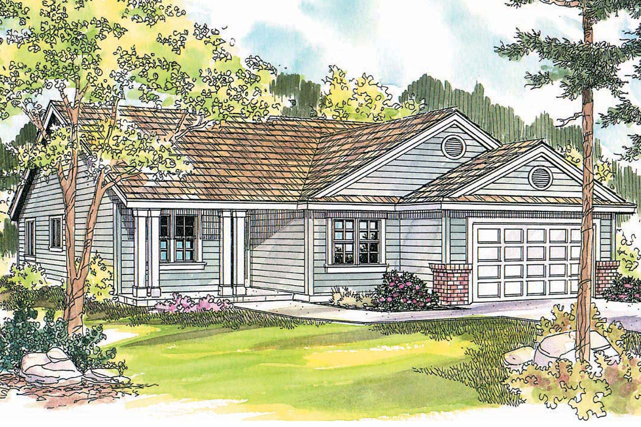 Front Elevation Ranch : Ranch house plans chapman associated designs