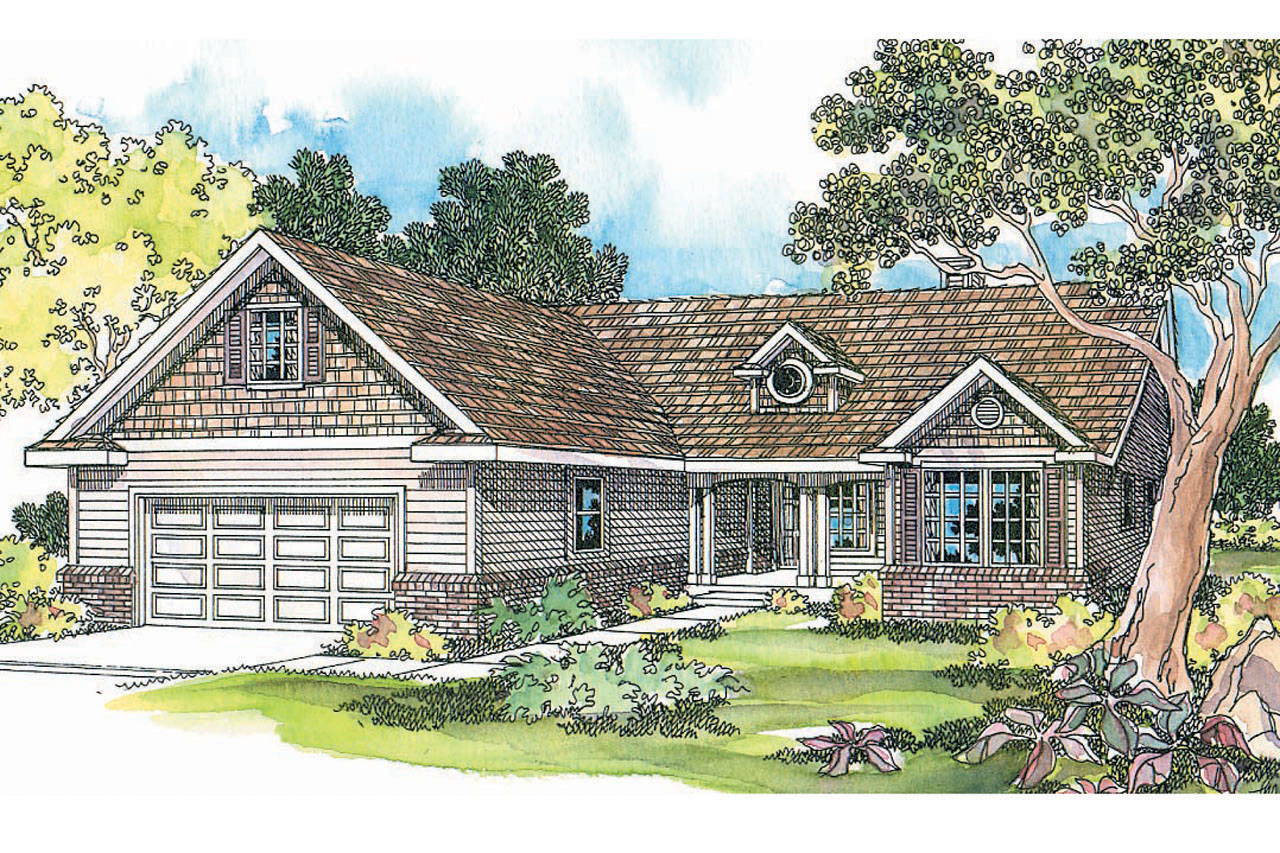 Ranch house plans chesapeake 50 007 associated designs for Ranch house elevations