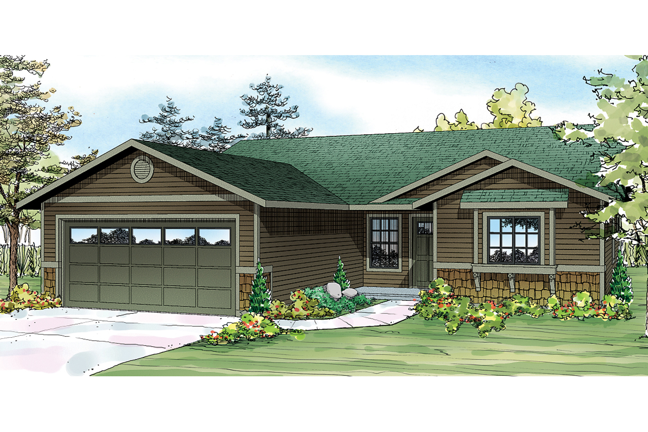 Front Elevation Ranch : Ranch house plans foster associated designs