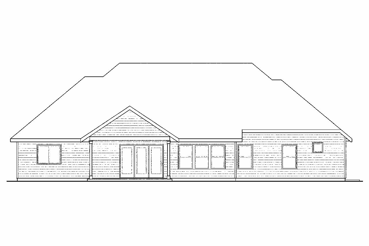 Rear Elevation Plan : Cottage house plans gladstone associated designs