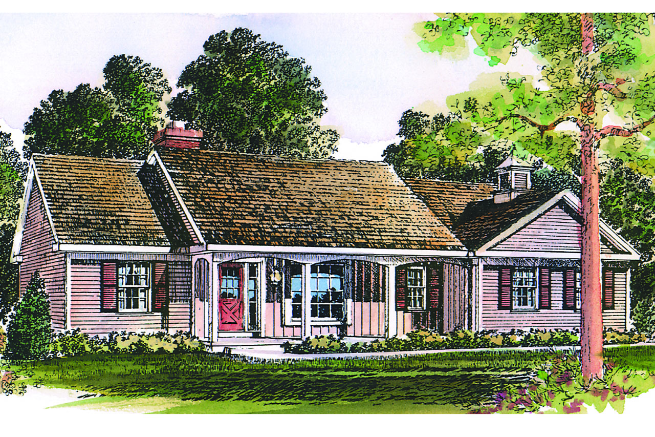 Ranch house plans glenwood 42 015 associated designs for Ranch house elevations