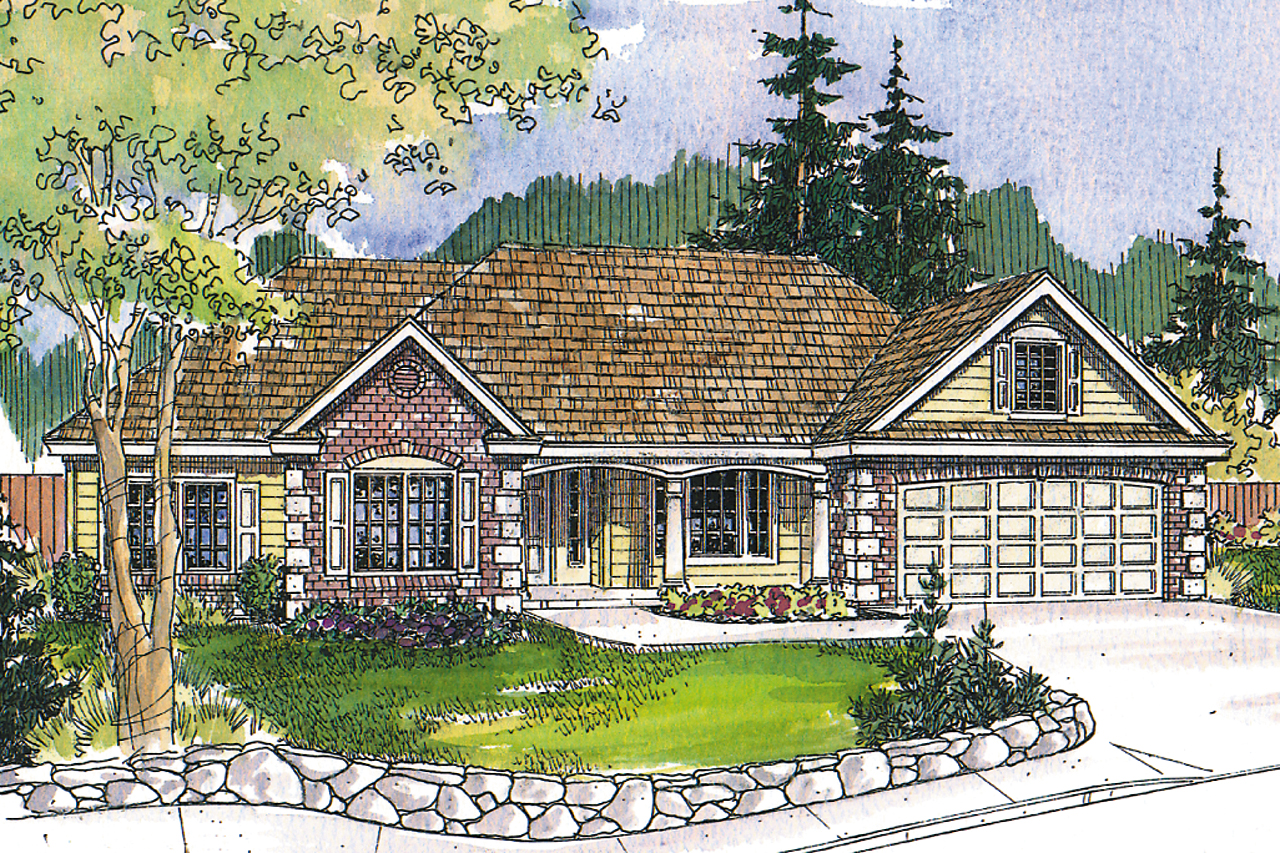 Ranch house plans hampshire 30 799 associated designs for Ranch house elevations