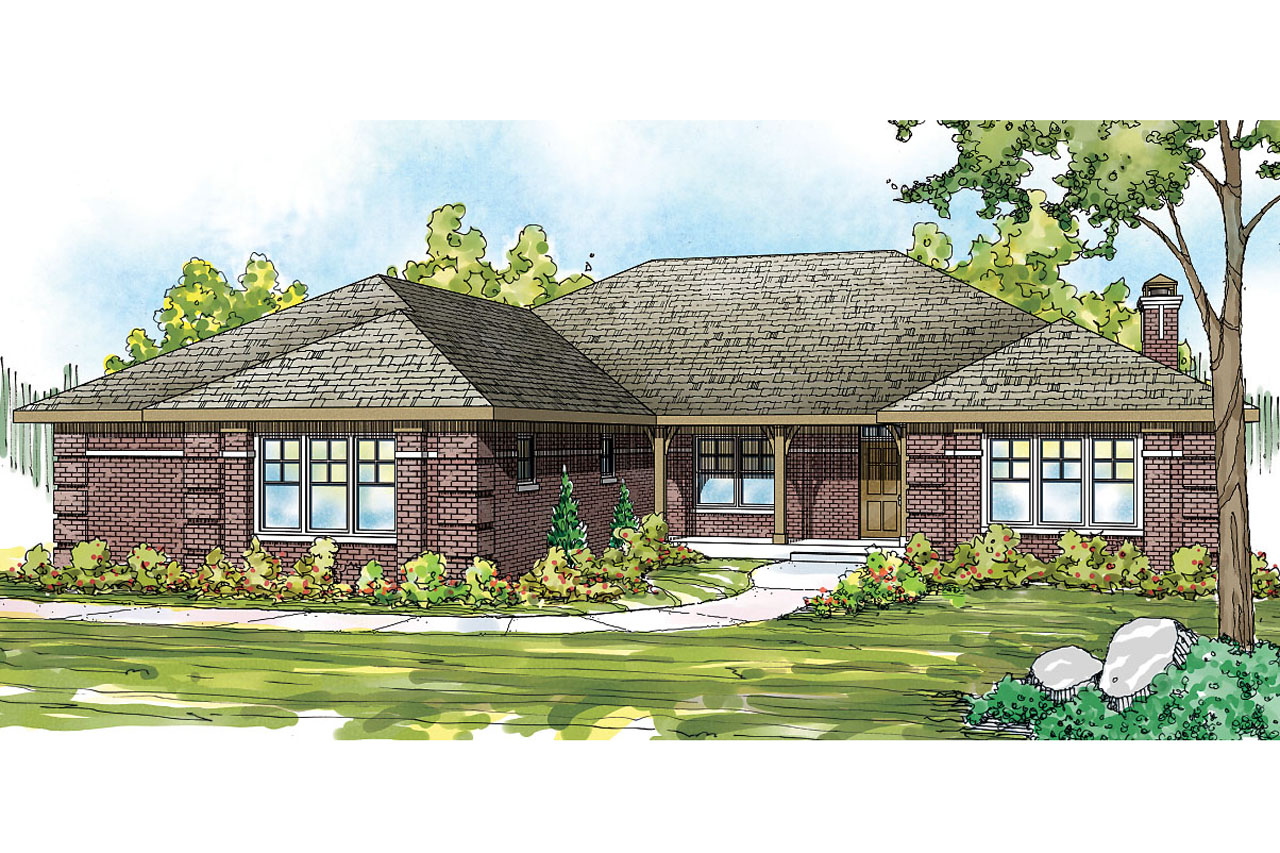 Ranch house plans hills creek 10 573 associated designs for Ranch house elevations