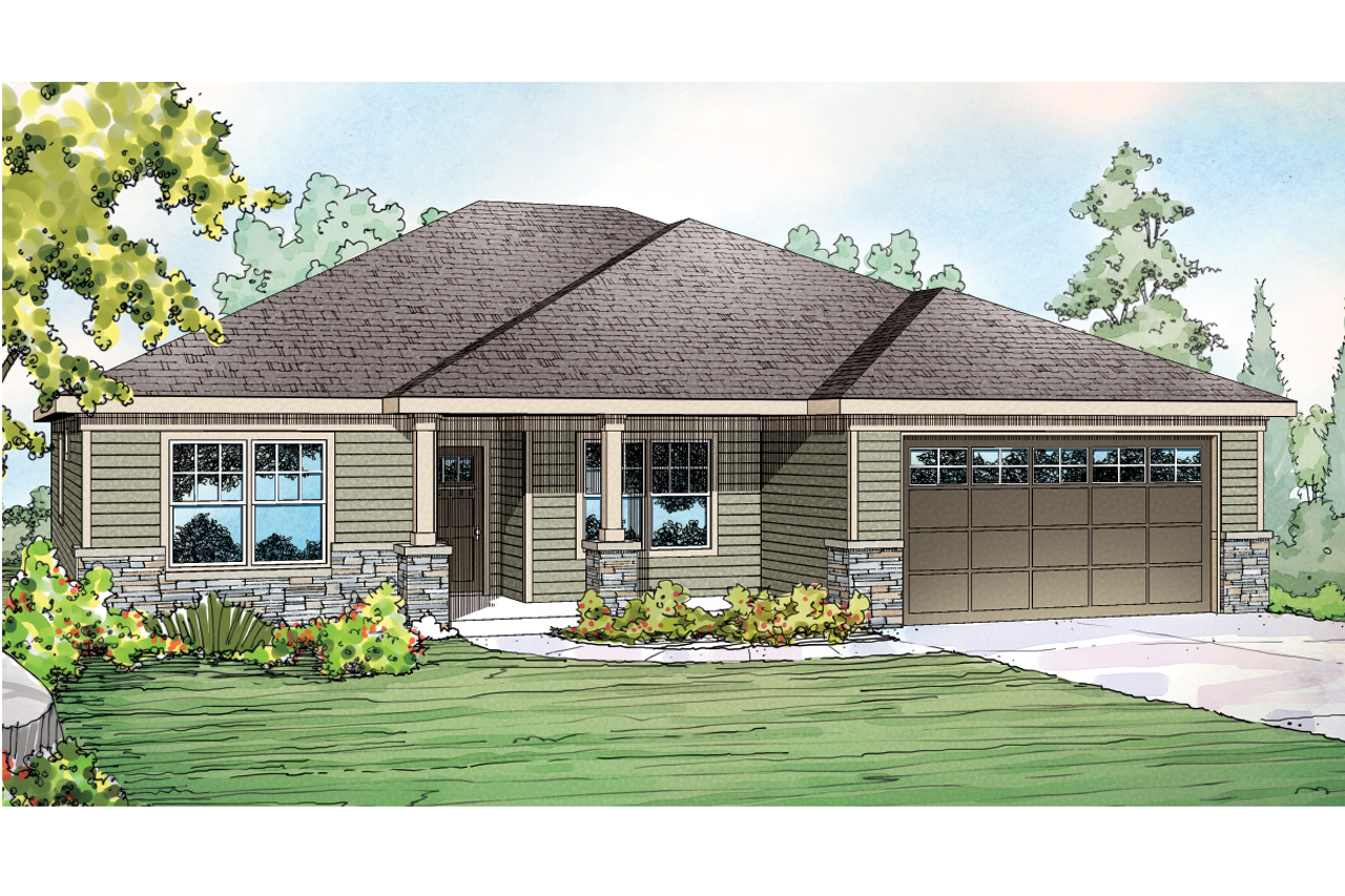 High Quality Ranch House Plan   Whittaker 30 845   Front Elevation ...