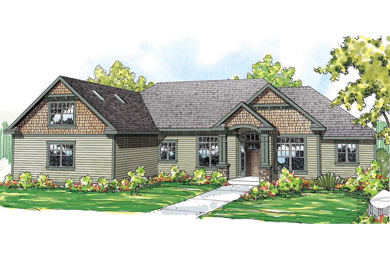 Ranch House Elevations Of Ranch House Plans Willamette 30 788 Associated Designs