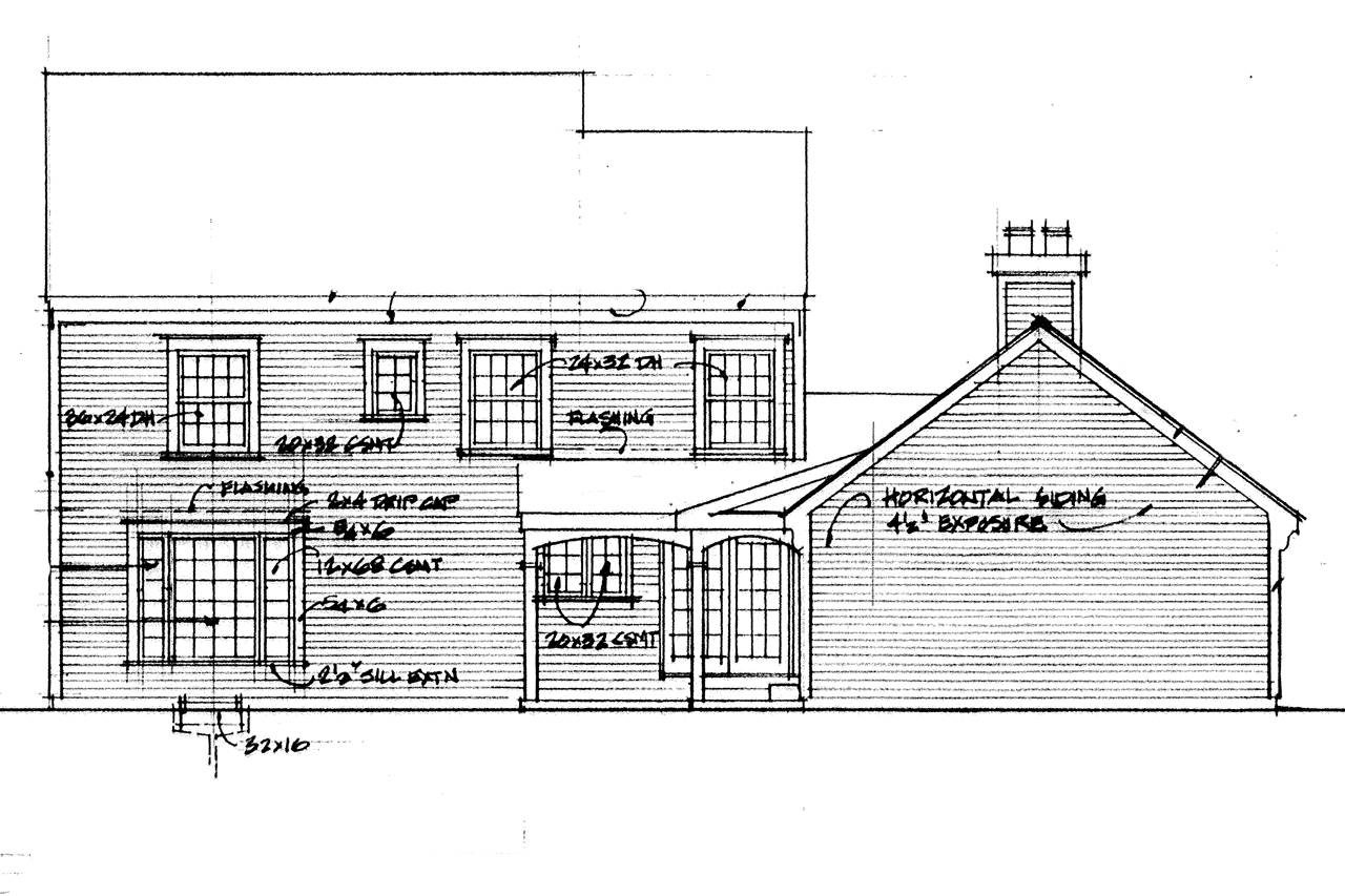 Colonial house plans iverness 42 008 associated designs for Saltbox plans