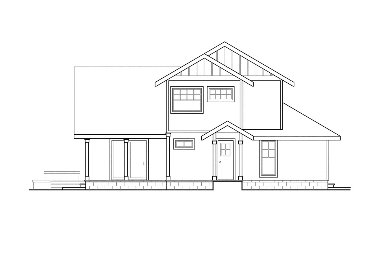 Contemporary house plans fairview 51 008 associated Vacation house plans sloped lot