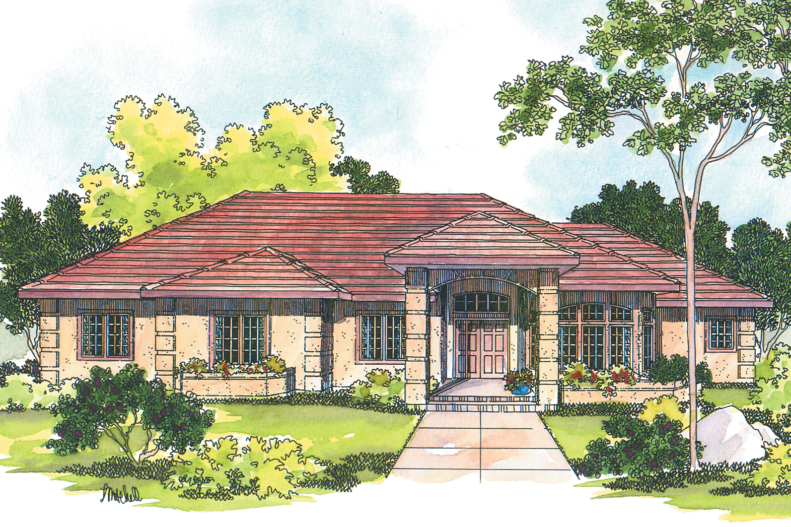 Southwest house plans lantana 30 177 associated designs for Southwest style house plans
