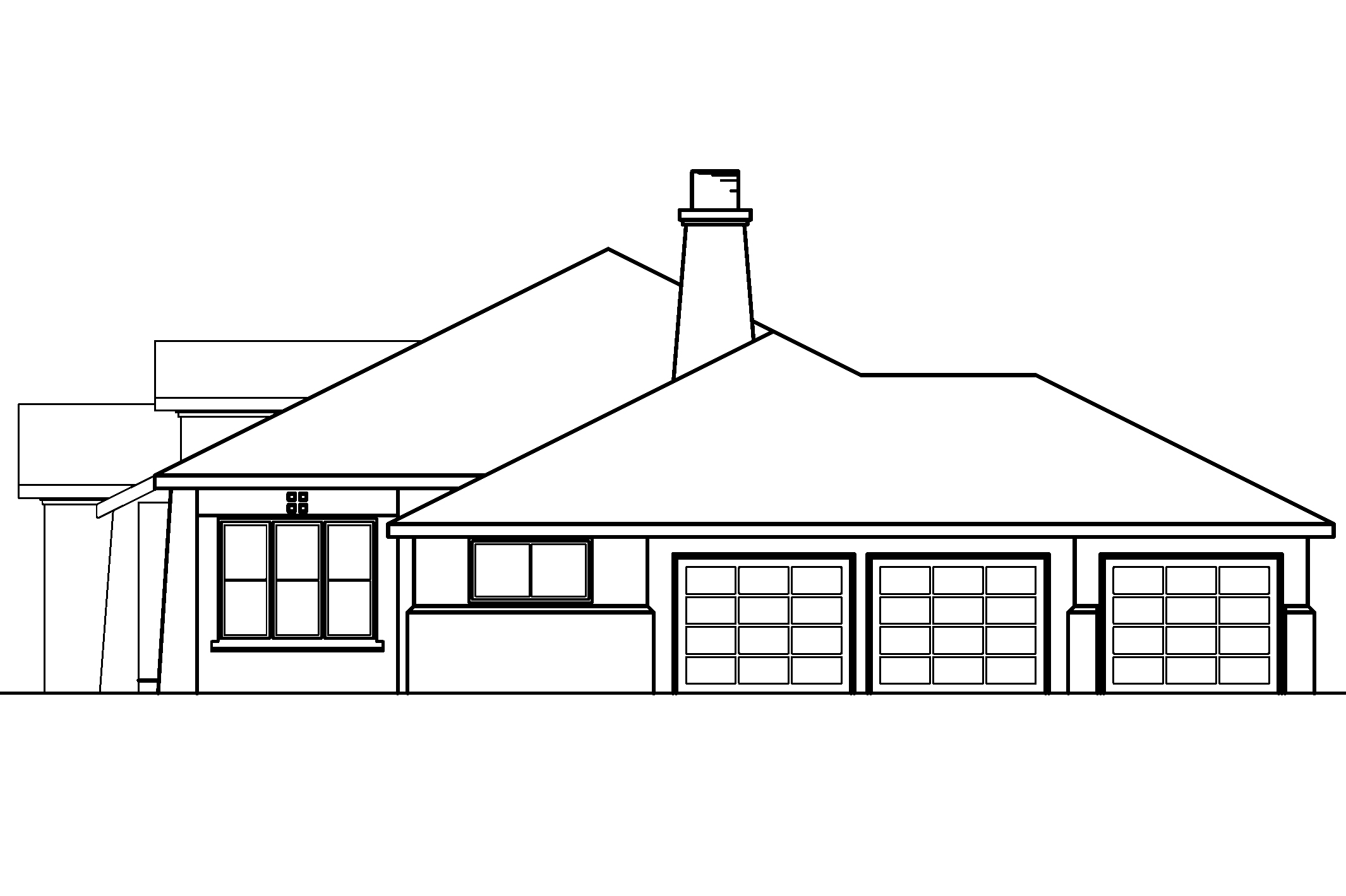 Elevation Plan In Spanish : Southwest house plans mesilla associated designs