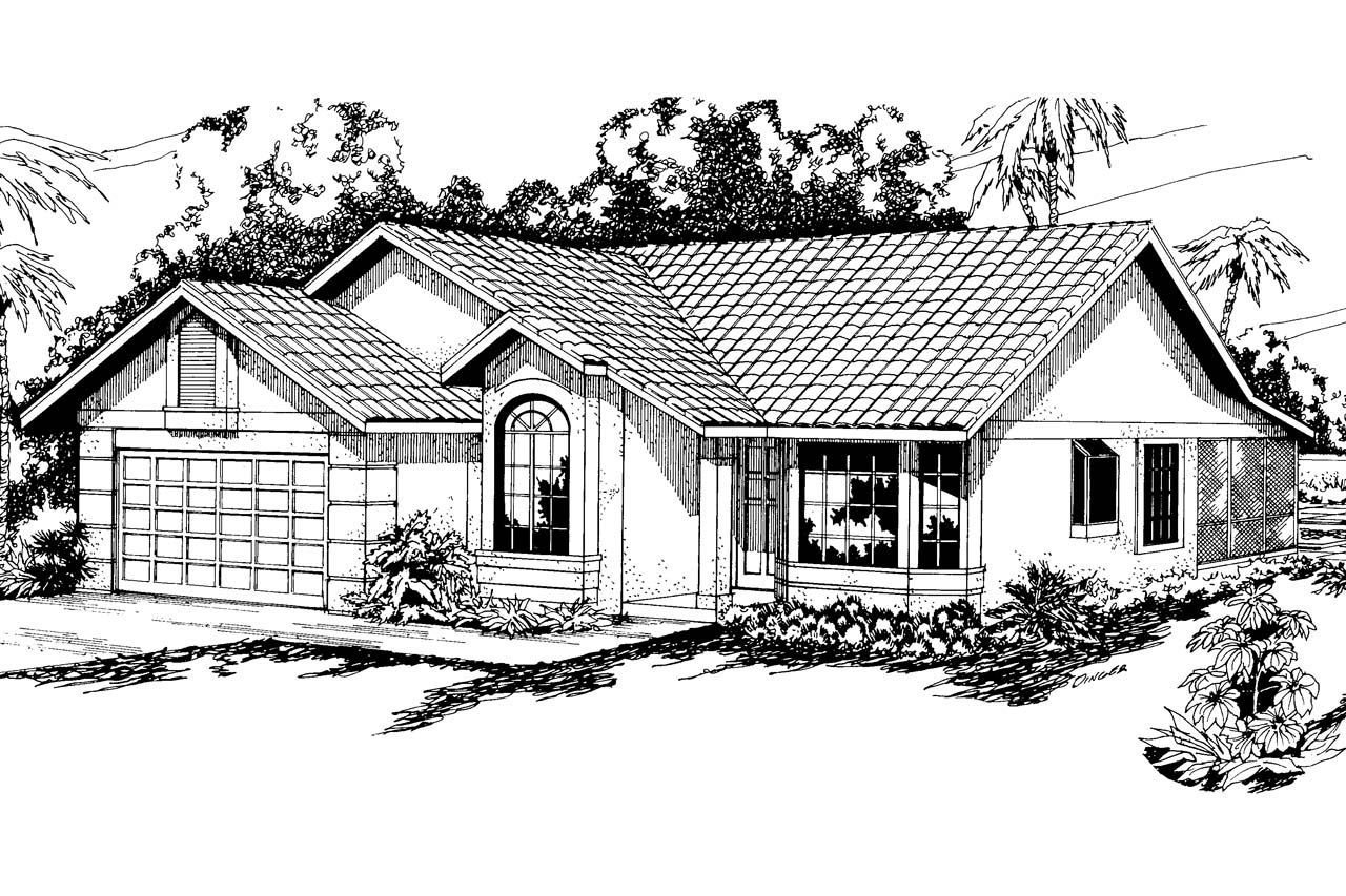 Elevation Plan In Spanish : Spanish style house plans arcadia associated