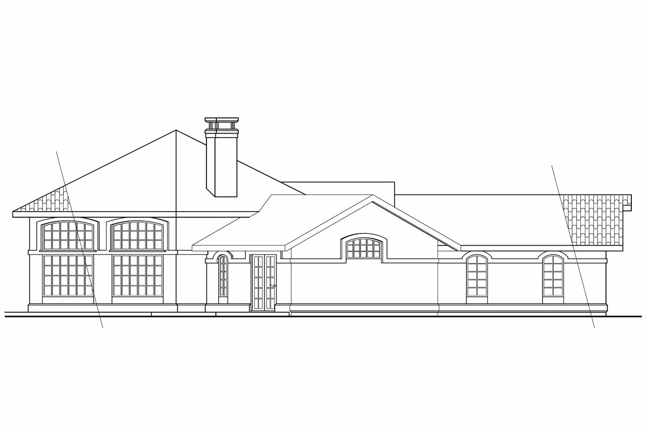 Elevation Plan In Spanish : Southwest house plans sierra associated designs