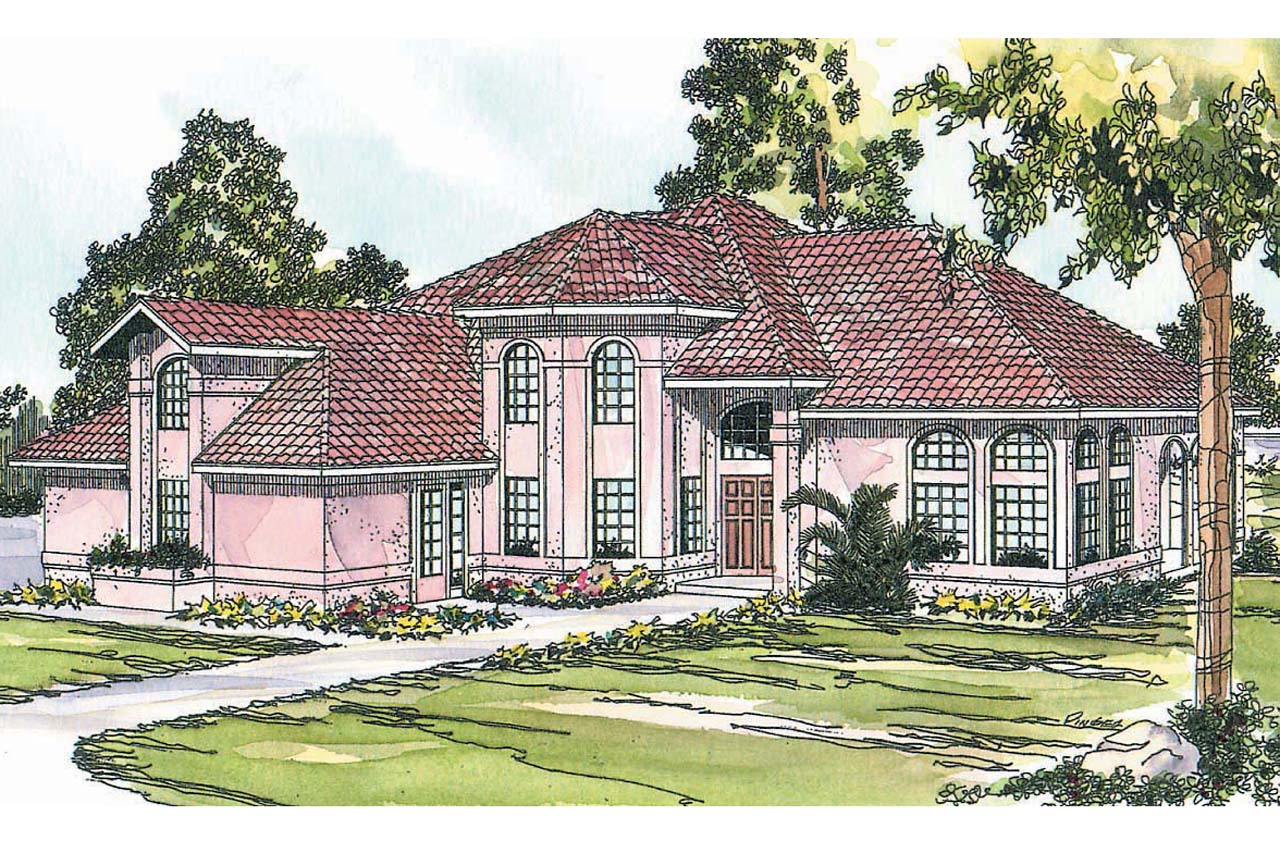 Spanish style house plans stanfield 11 084 associated for Spanish house plans