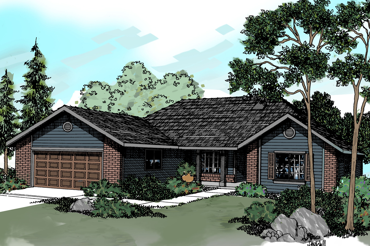 Traditional House Front Elevation : Traditional house plans eldon associated designs