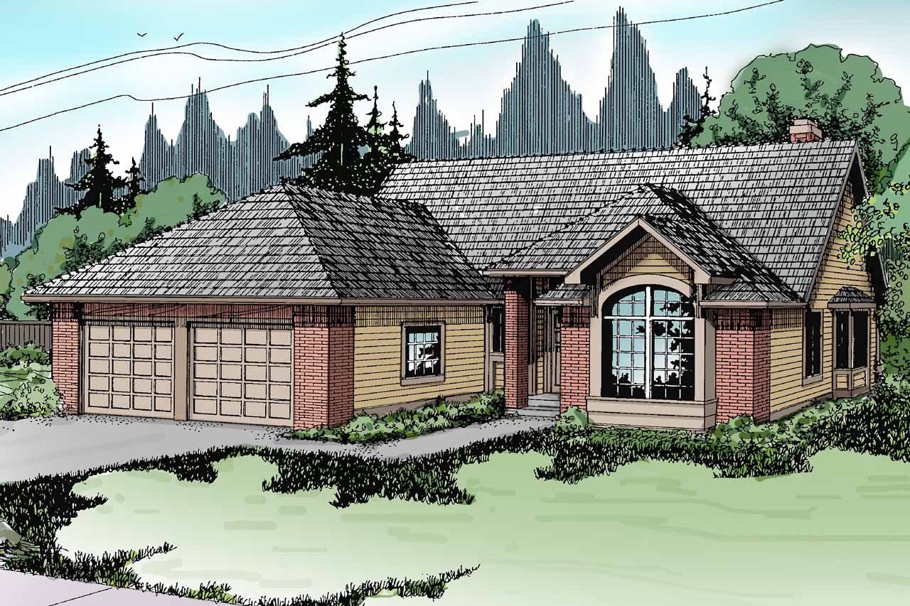 Front Elevation Traditional : Traditional house plans akron associated designs