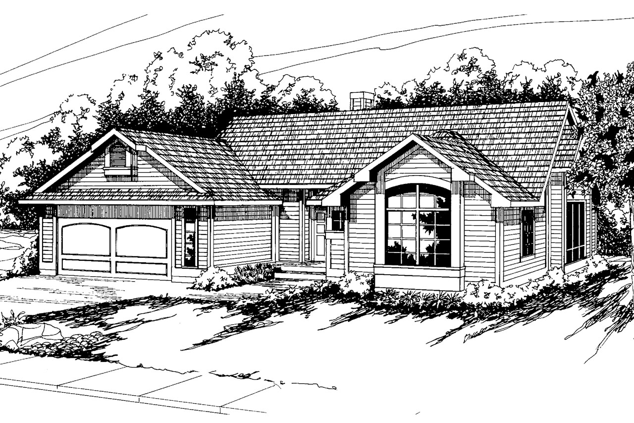 Traditional House Front Elevation : Traditional house plans austin associated designs
