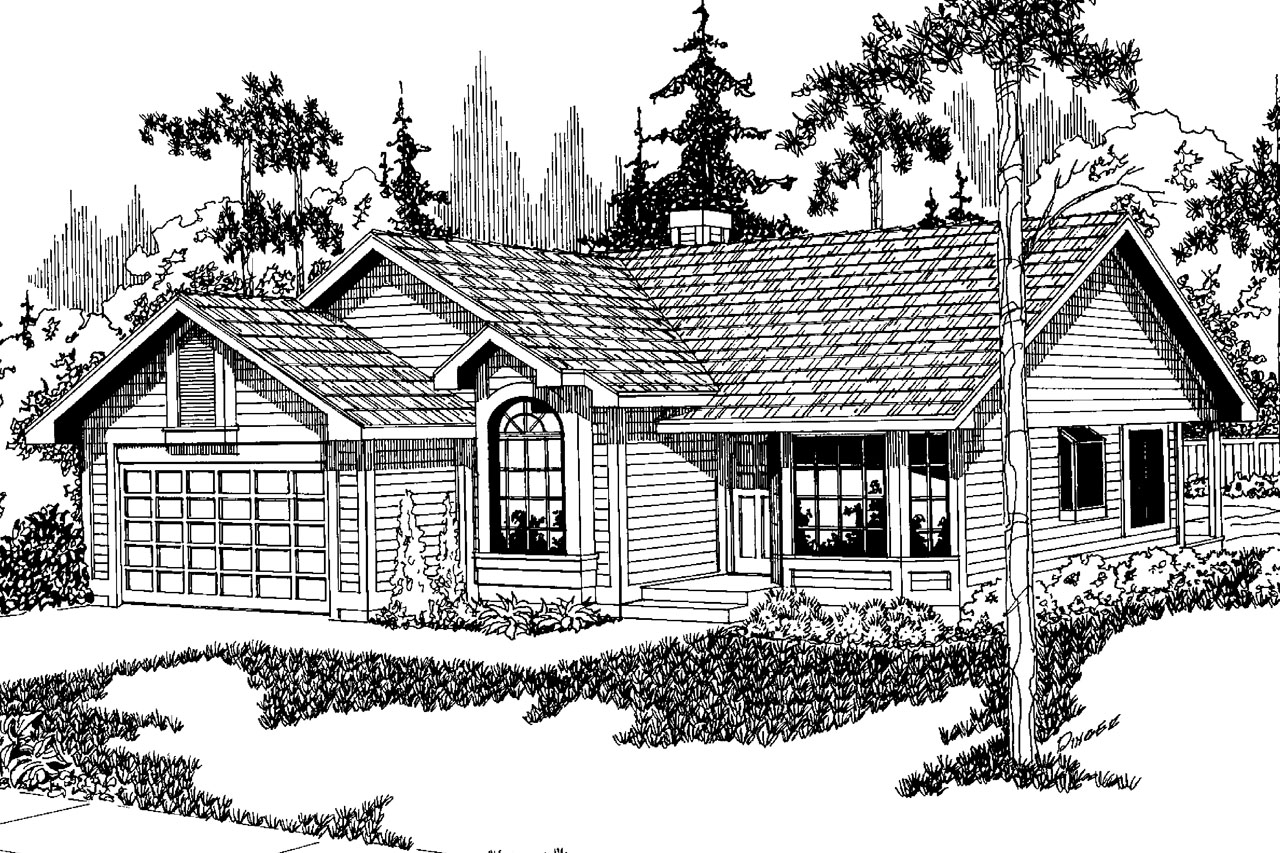 Traditional House Front Elevation : Traditional house plans danforth associated designs