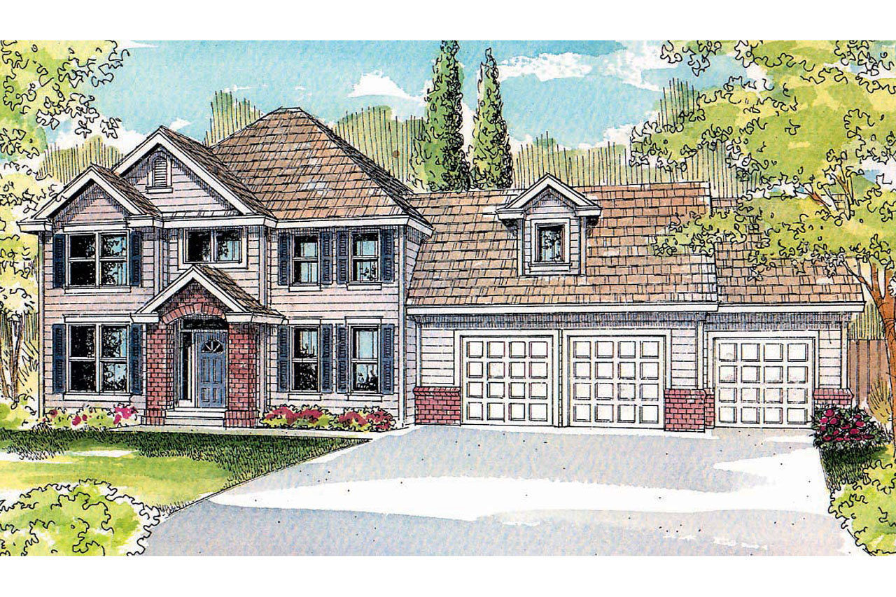 Traditional House Front Elevation : Traditional house plans glenhurst associated