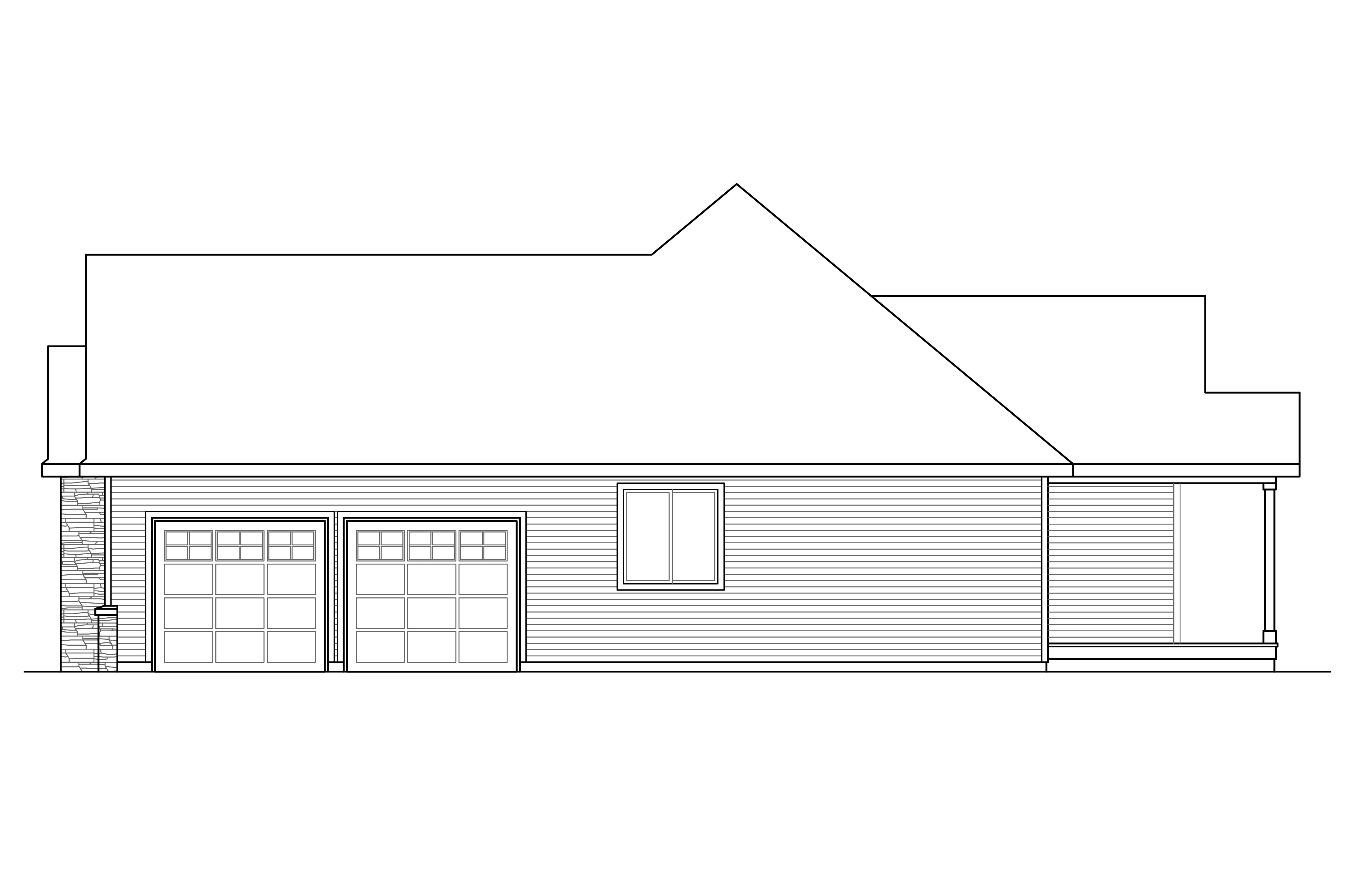 House Plans Elevation ranch house plans - manor heart 10-590 - associated designs