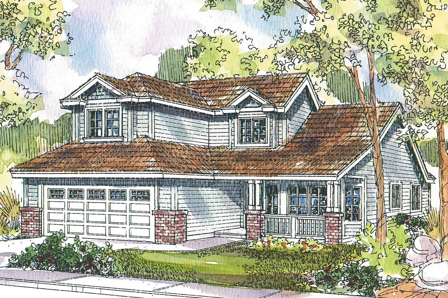 Traditional House Front Elevation : Traditional house plans mcbride associated designs