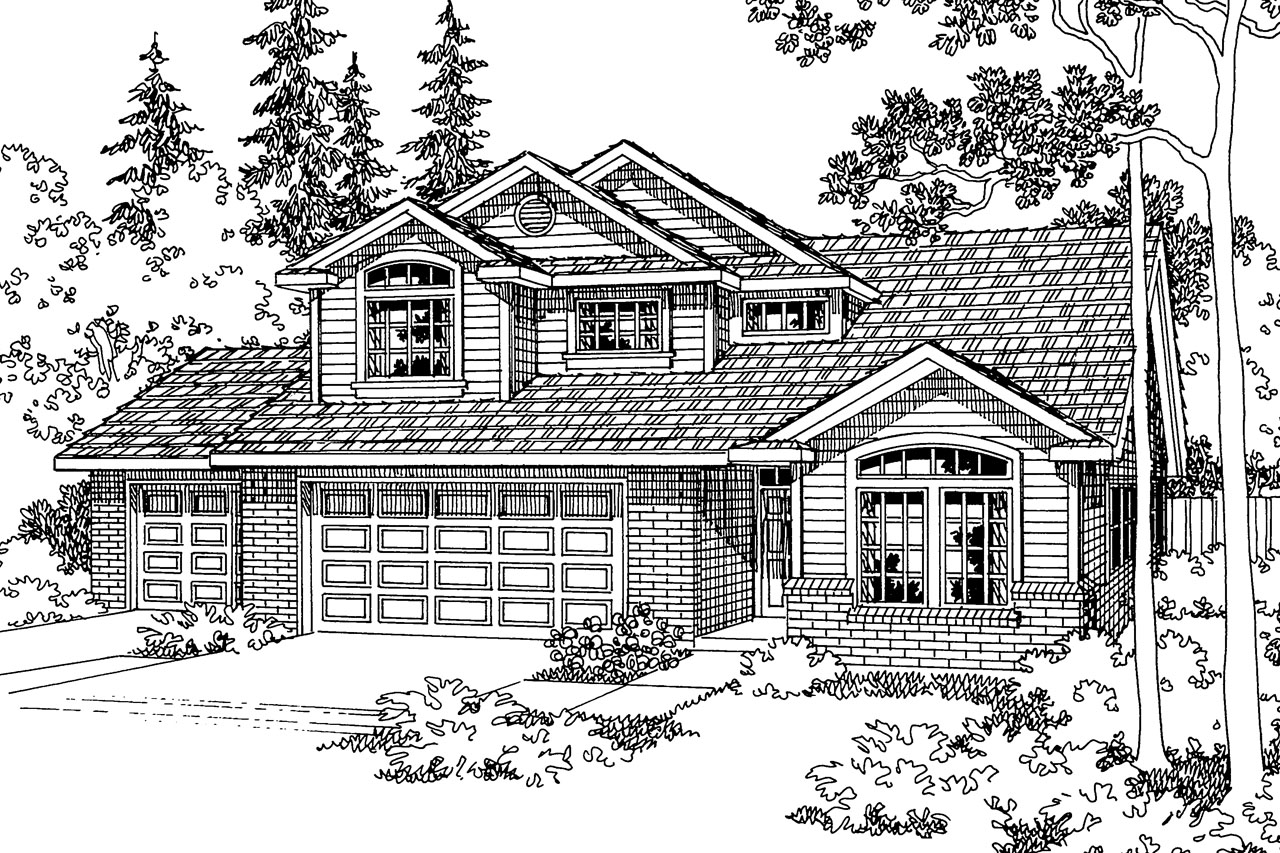 Traditional House Front Elevation : Traditional house plans valemont associated designs