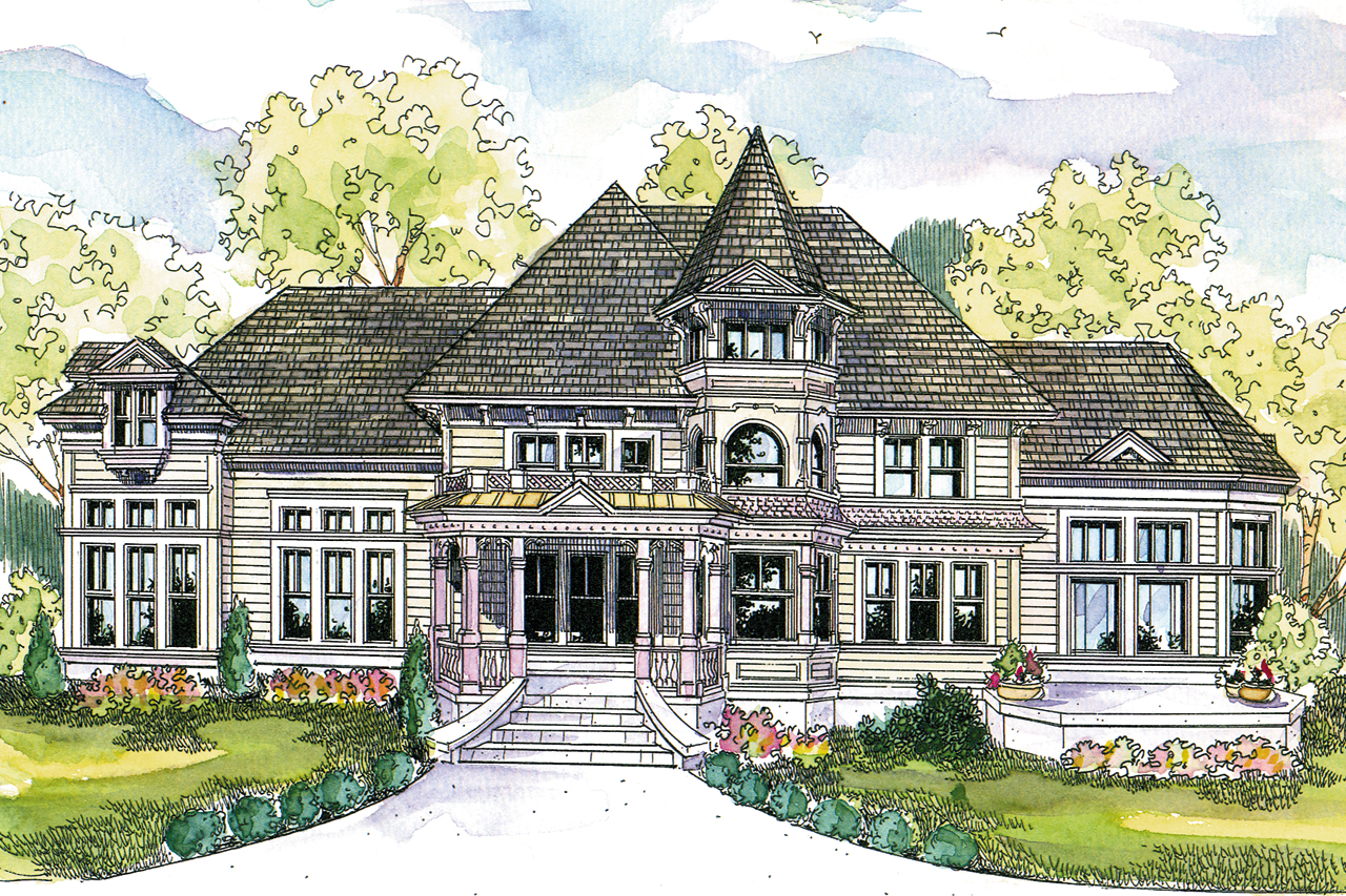 Victorian house plans canterbury 30 516 associated designs for Mansion home plans