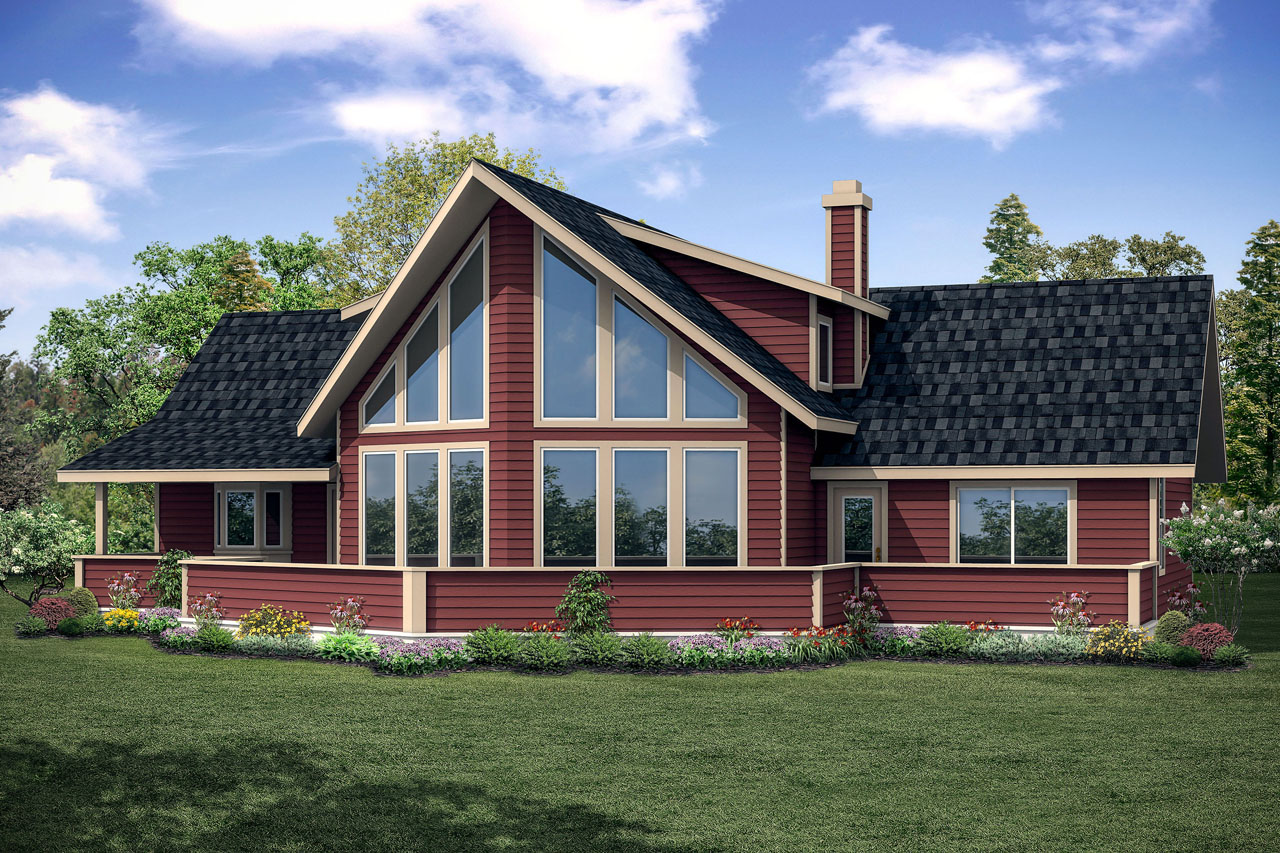 A frame house plans alpenview 31 003 associated designs for Home plans with a view to the rear