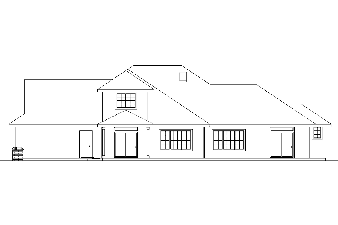 House plans with a view lot house design plans for Front view house plans