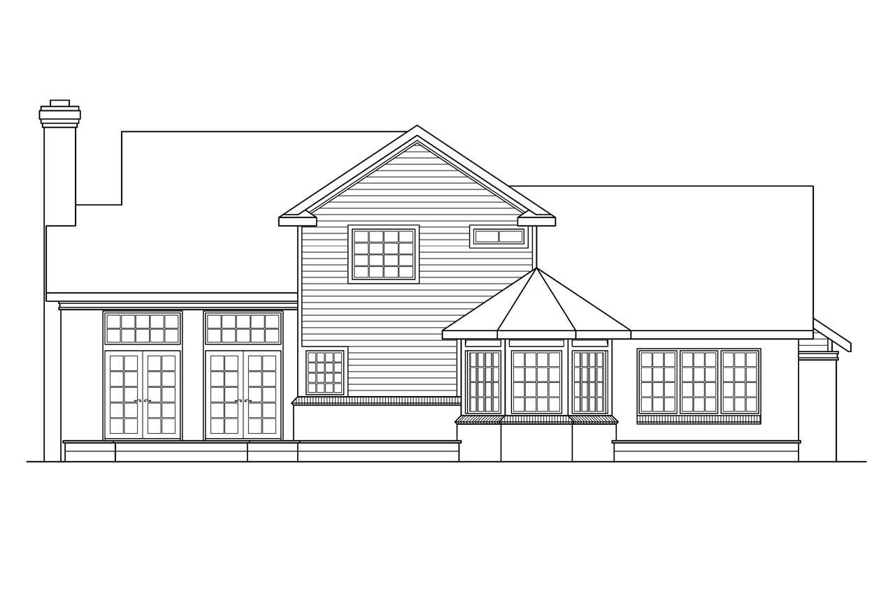 Country house plans charleston 10 252 associated designs Rear view home plans