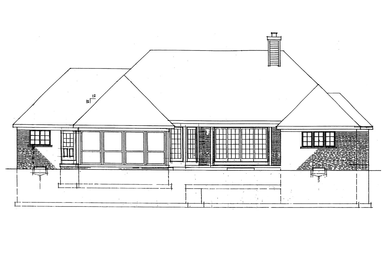 Georgian house plans ingraham 42 016 associated designs House plans for rear view lots