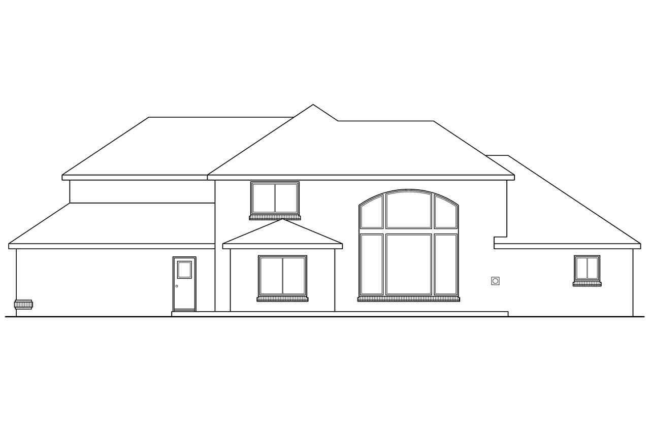 House Plans Rear View Lot Baby Nursery Lake Front House