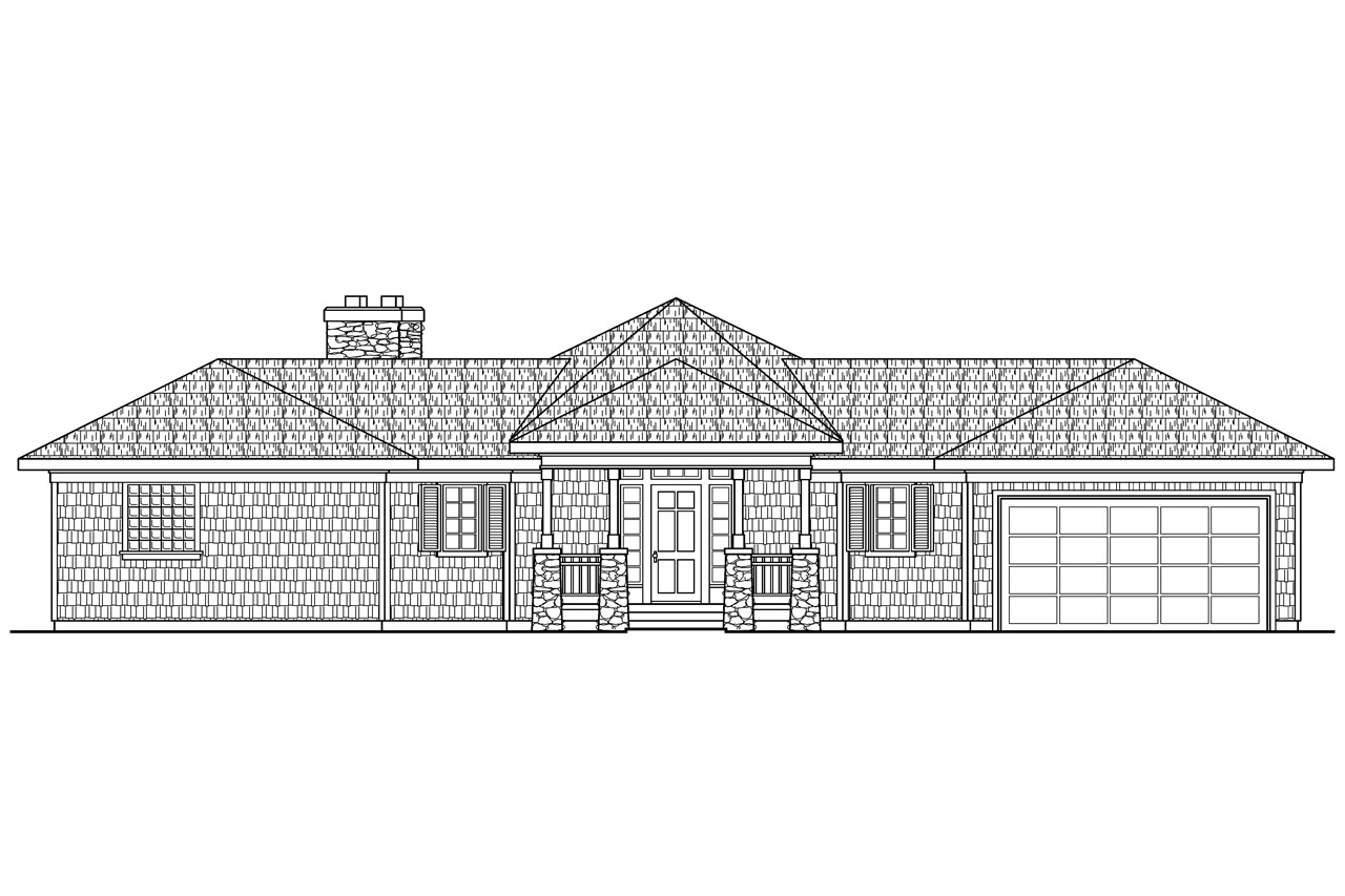 House plans for side view lot for Front view home plans