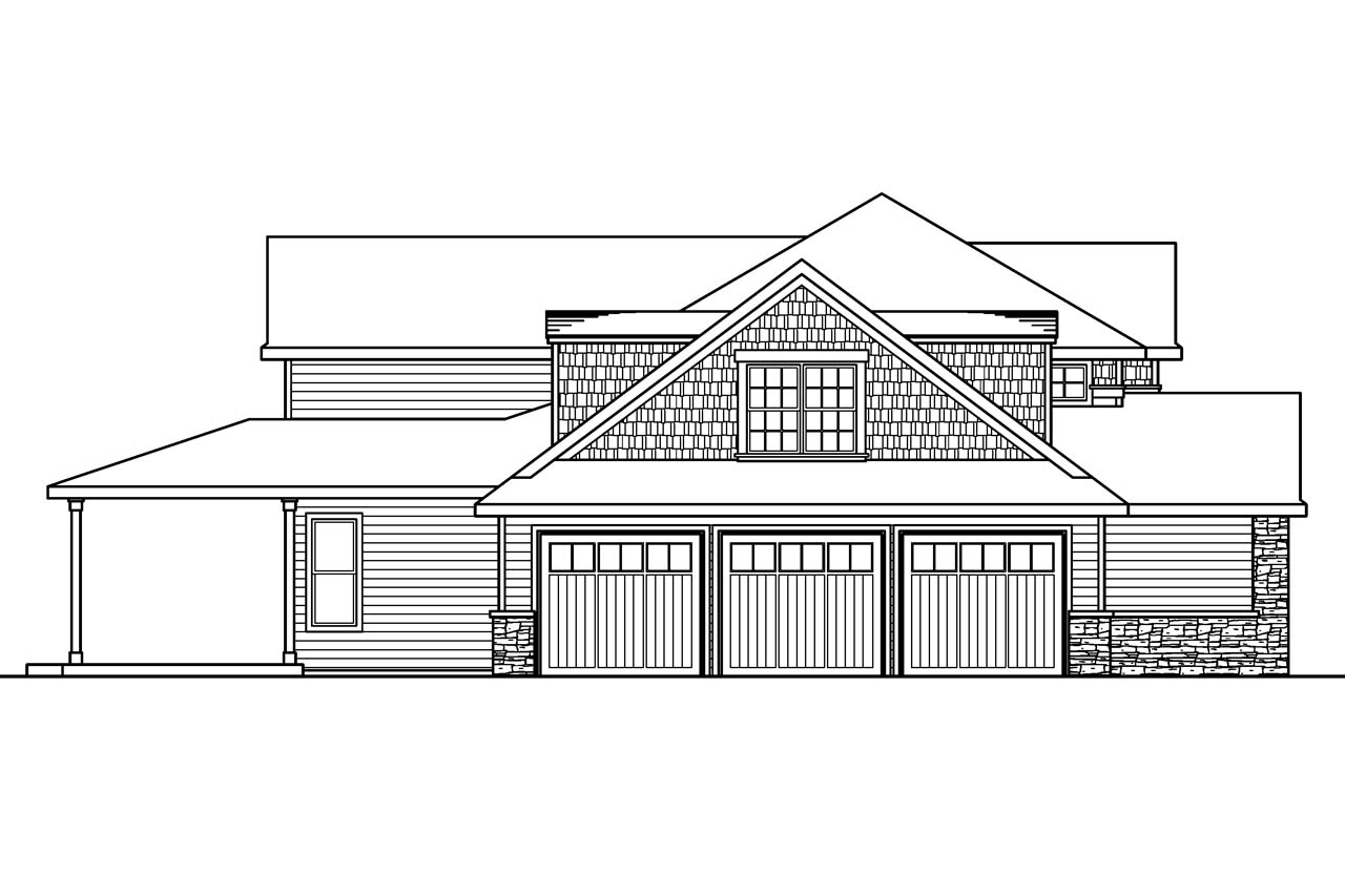 House Plan Elevation View : European house plans westchase associated designs