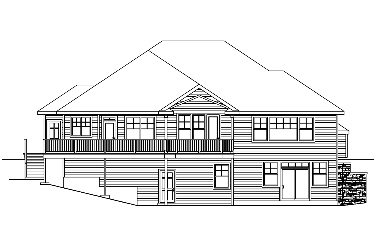 House Plans Rear View Lot Home Design And Style
