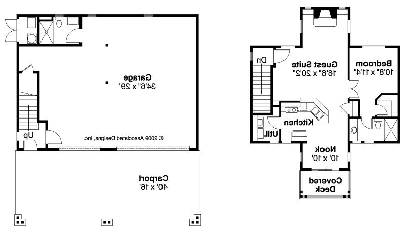Bungalow garage w apartment 20 052 associated designs for Garage guest house floor plans