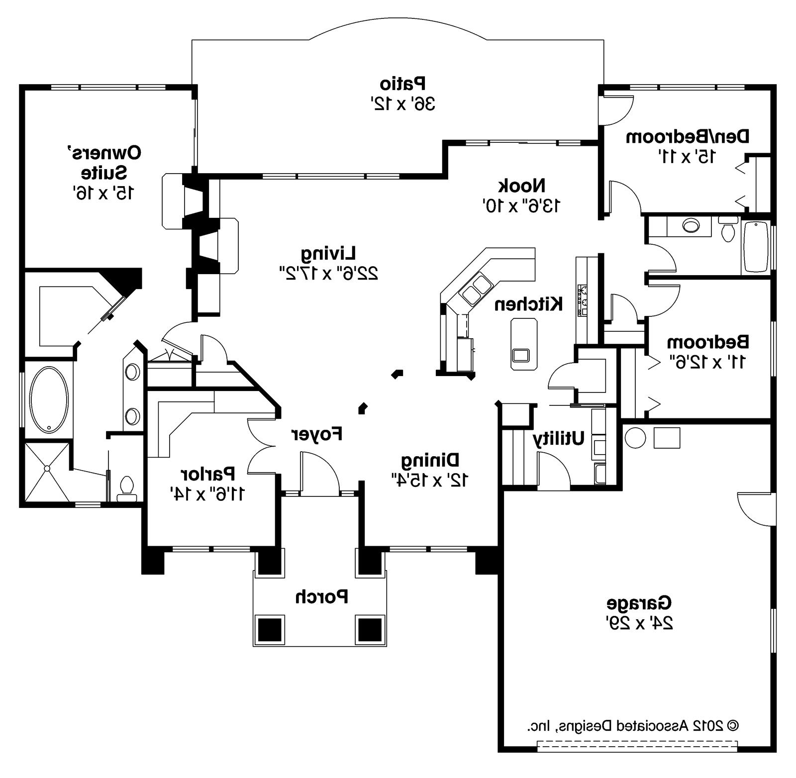 Mediterranean style house plans for Mediterranean style floor plans