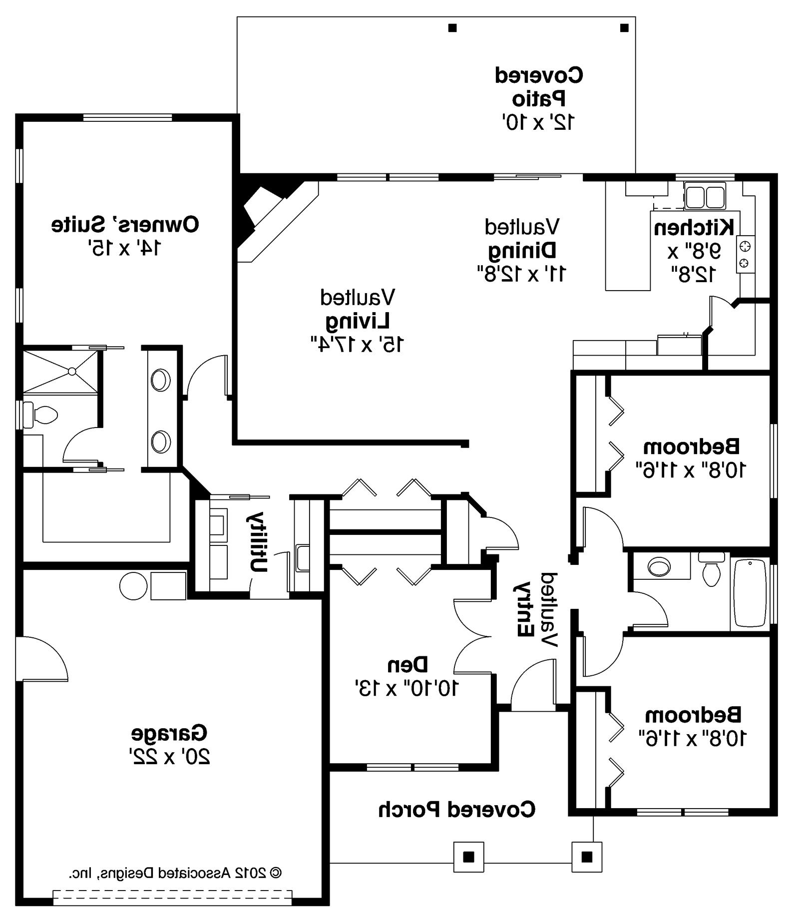ranch house plans - whittaker 30-845