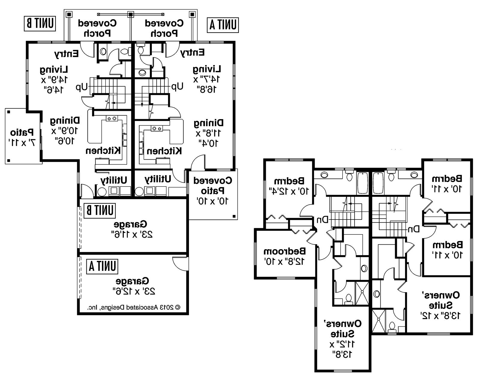 Awesome side by side duplex house plans pictures house Duplex plans