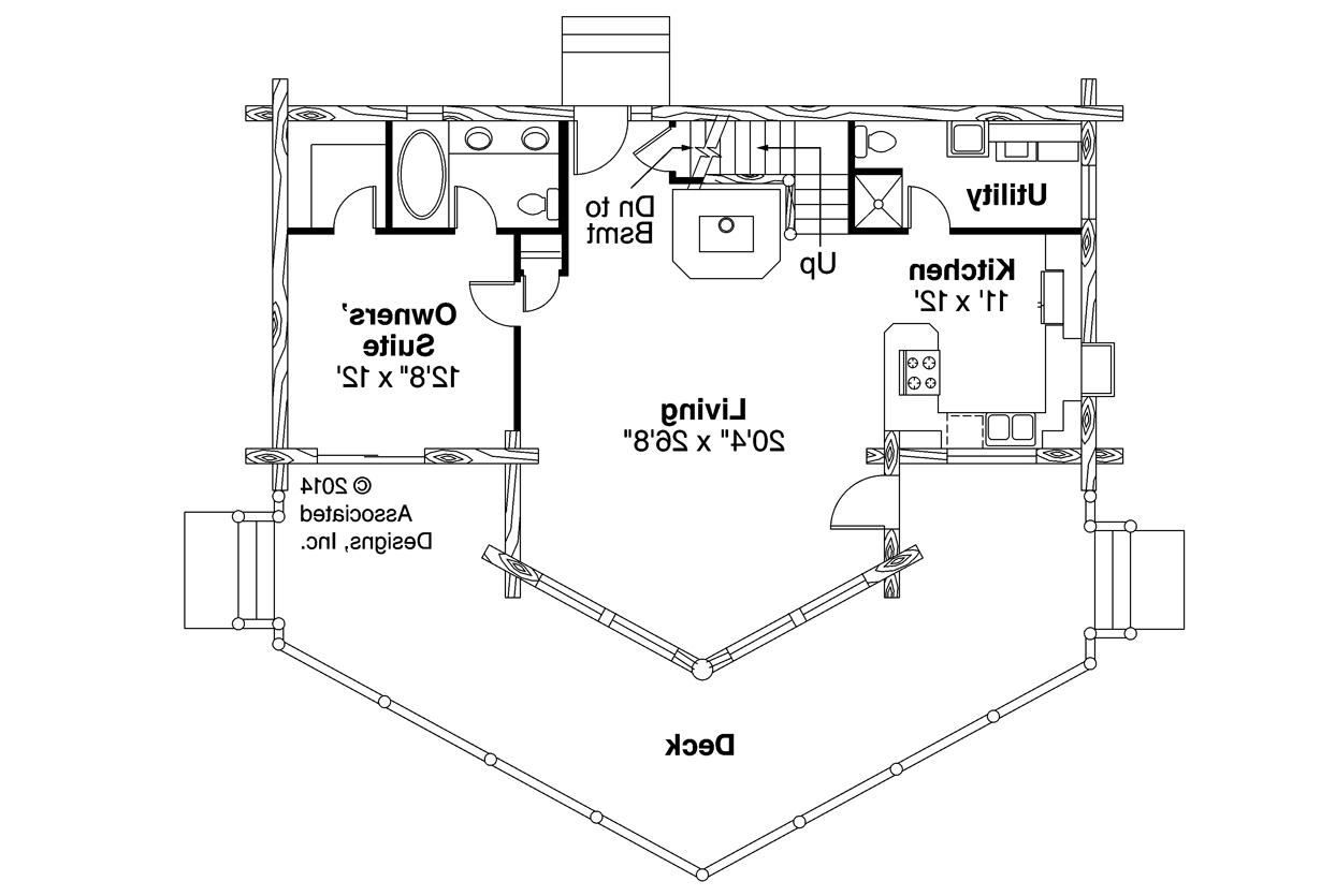 ... A Frame House Plan   Altamont 30 012   First Floor Plan