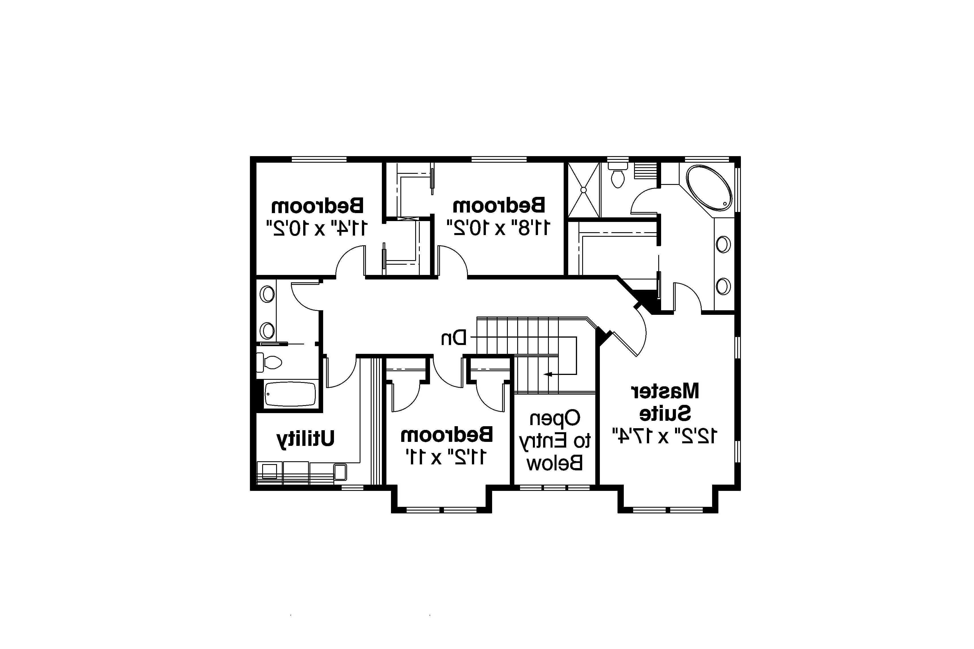 bungalow house plan cavanaugh 30 490 2nd floor plan
