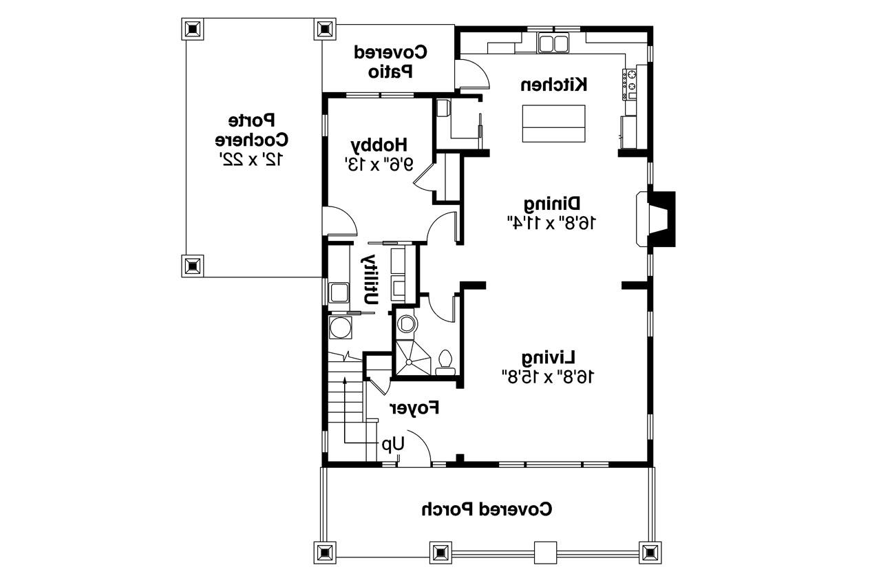 Bungalow House Plan  Greenwood 70001  1st Floor Plan