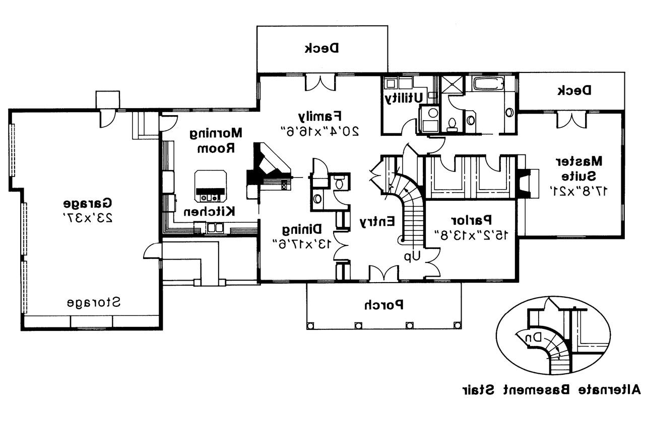 Wonderful Colonial Home Floor Plans #7: ... Colonial House Plan - Clairmont 10-041 - 1st Floor Plan