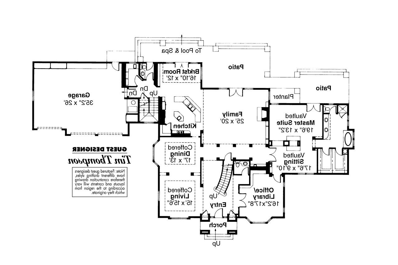 Colonial House Plan Franklin 50 001 1st Floor Plan