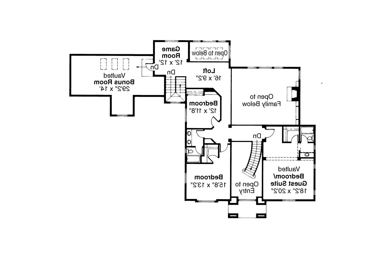 Colonial House Plan Franklin 50 001 2nd Floor Plan