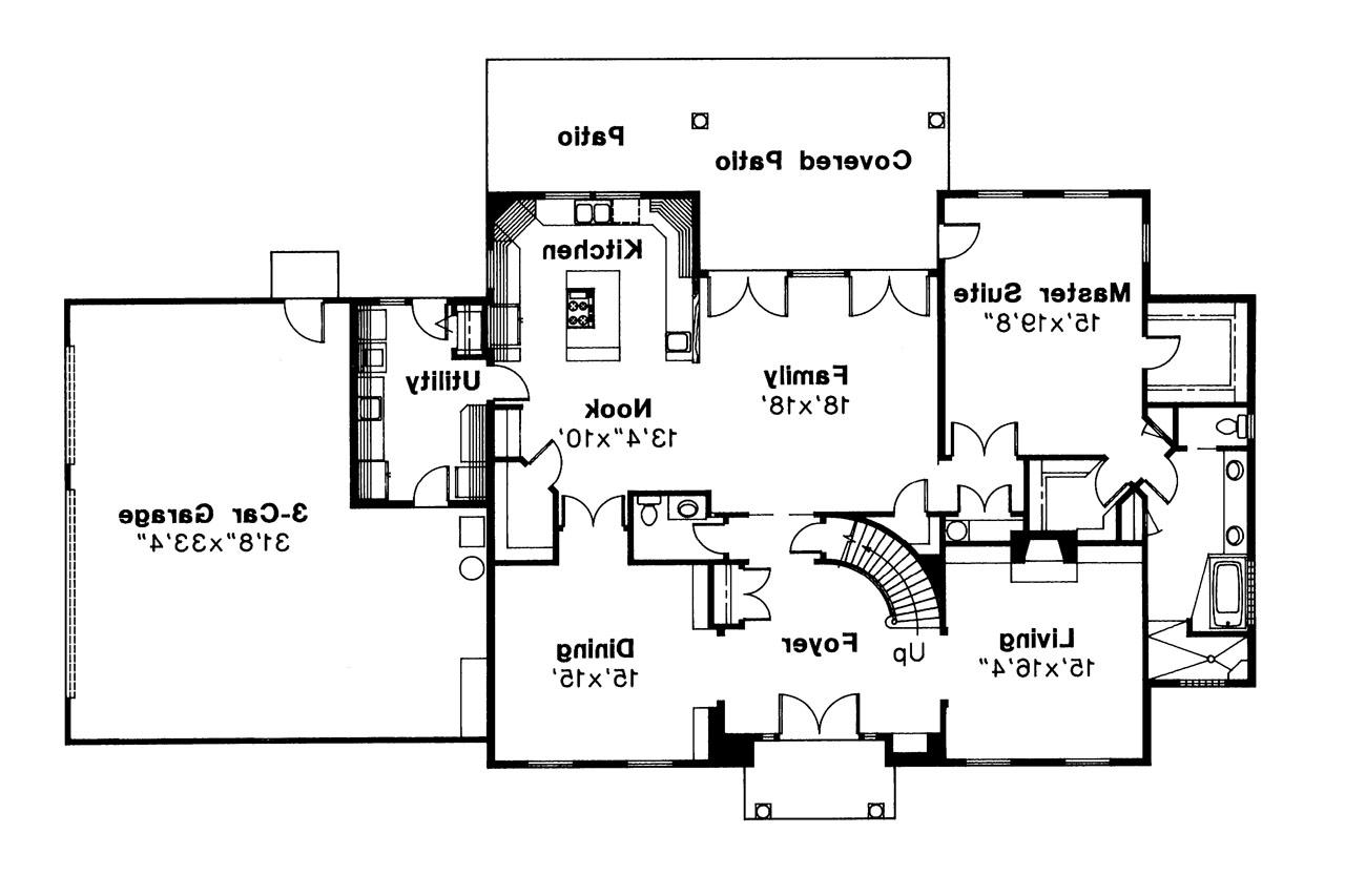 Colonial House Plans - Kearney 30-062 - Associated Designs