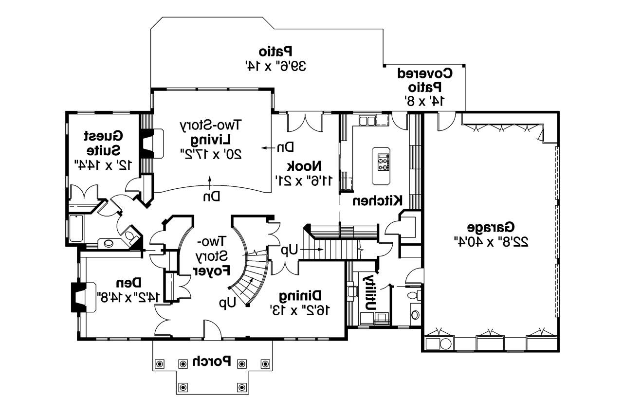 Colonial House Plan Roxbury 30 187 1st Floor Plan