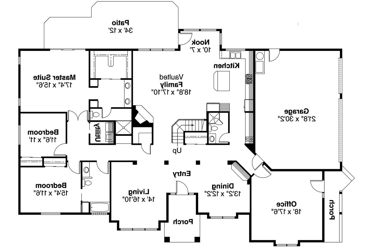 Contemporary House Plan  Ainsley 10008  1st Floor Plan