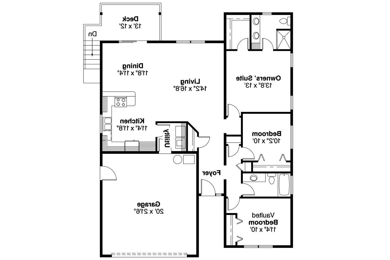 Cottage House Plan  Kayleigh 30549  Floor Plan