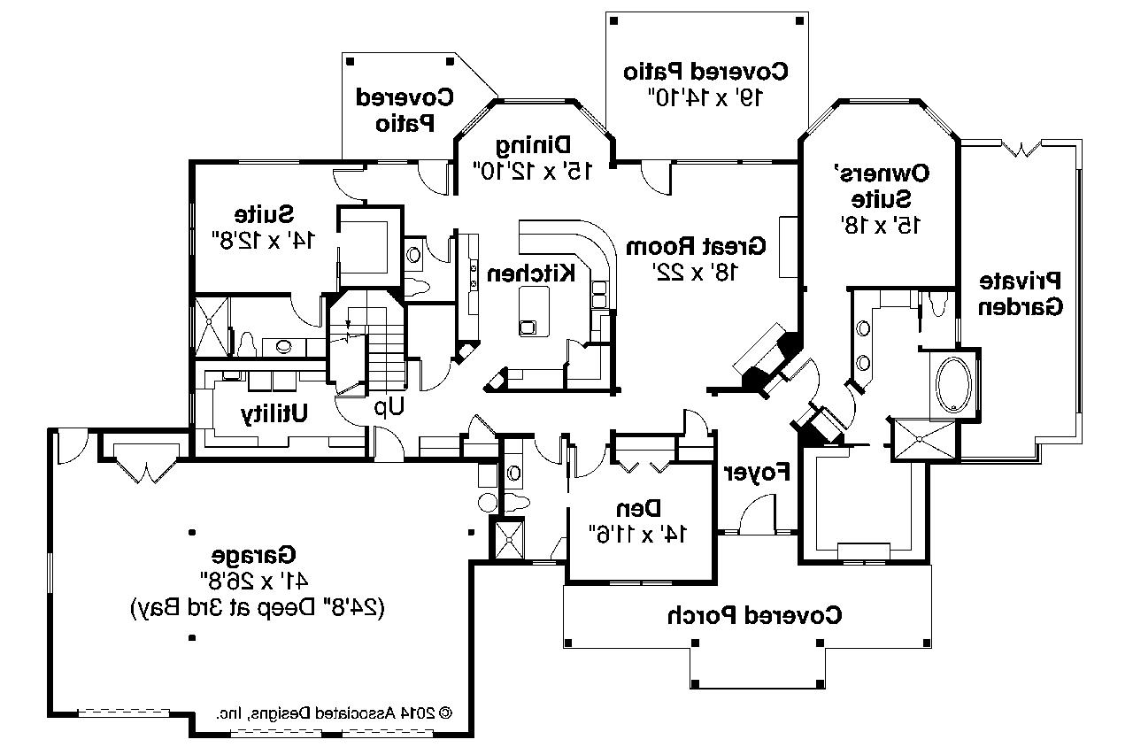 Craftsman House Plans Cedar Creek Associated Designs - Craftsman house floor plans