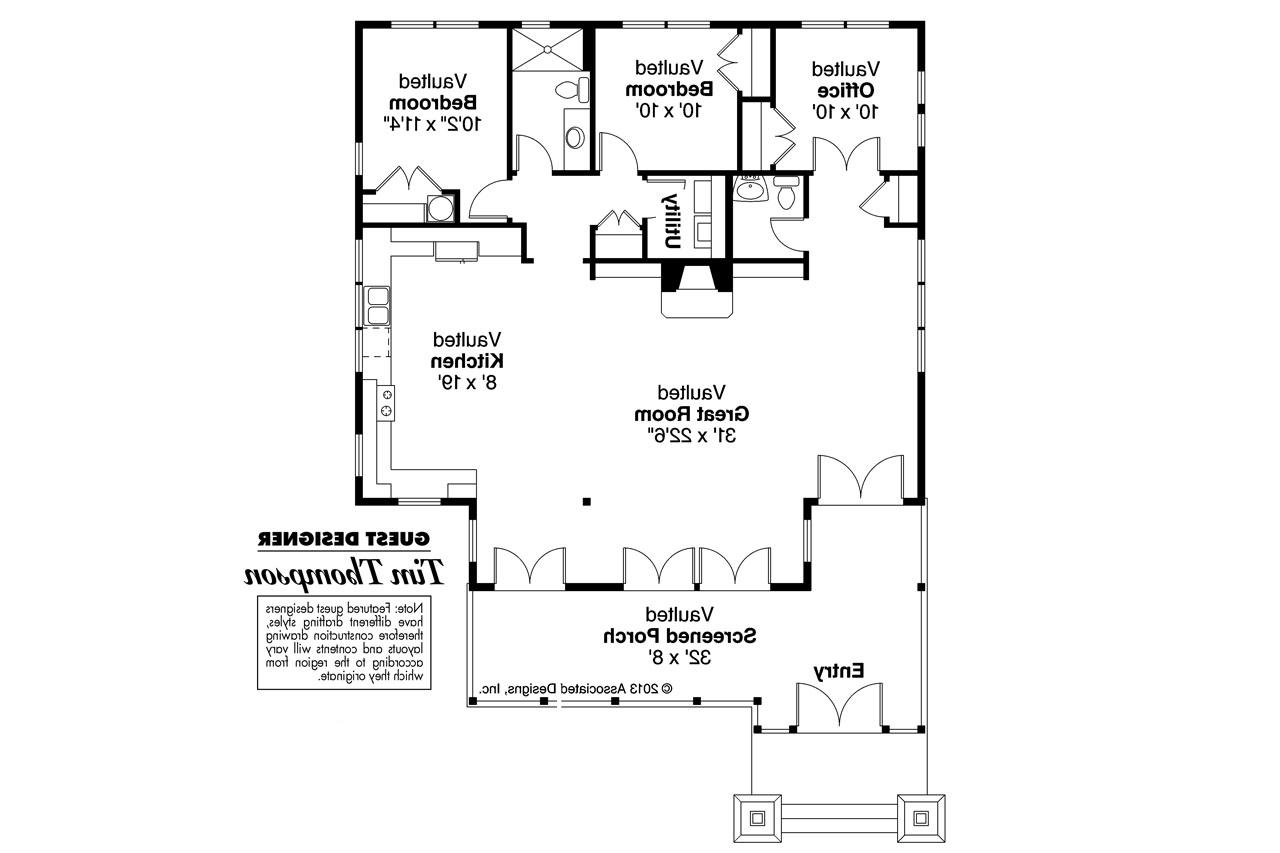 Craftsman House Plans Glen Eden 50 017 Associated Designs