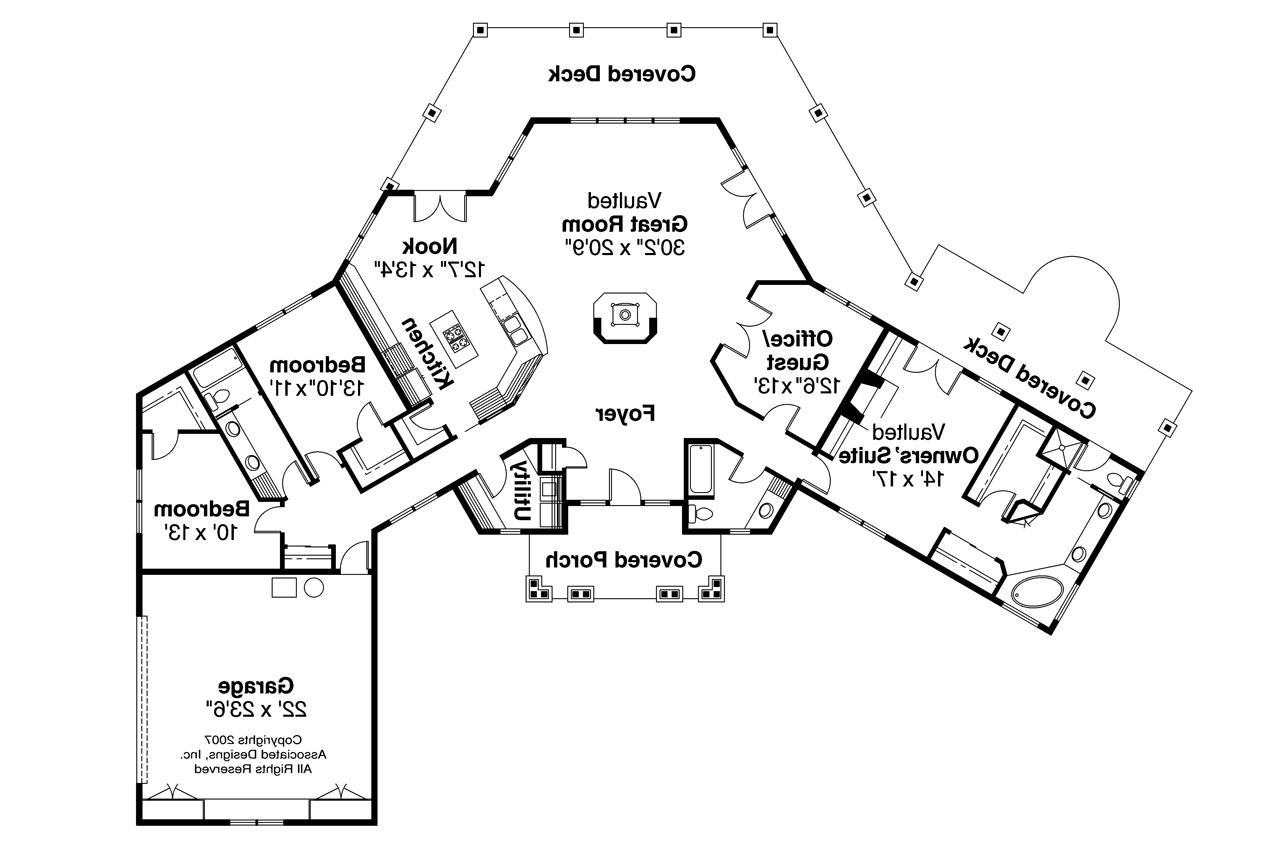 Craftsman house plans oceanview 10 258 associated designs House layout design